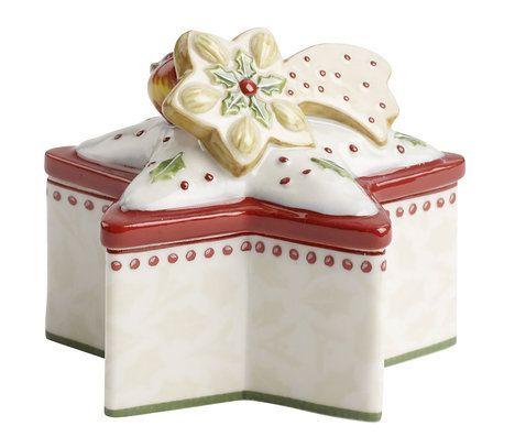 Na drobné cukroví nebo bonbony je určená mini dóza Winter Bakery Decoration, Villeroy & Boch. Její cena je 490 Kč; Luxury table