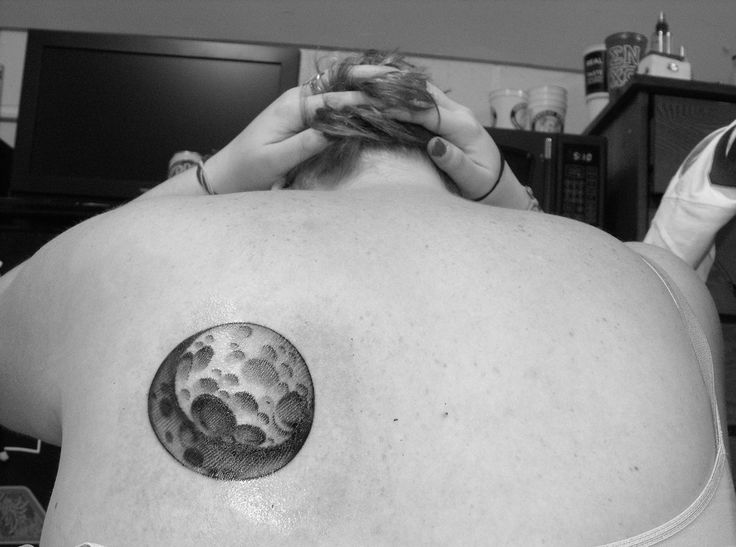 bear on moon tattoo | Back • Full Moon • Moon • Nature ...