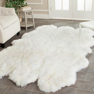 Safavieh Hand-woven Sheepskin White Rug (4' x 6') | Overstock.com Shopping - The Best Deals on 3x5 - 4x6 Rugs