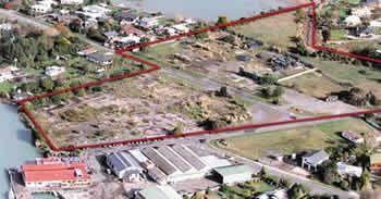 Boundary of Mapua site.