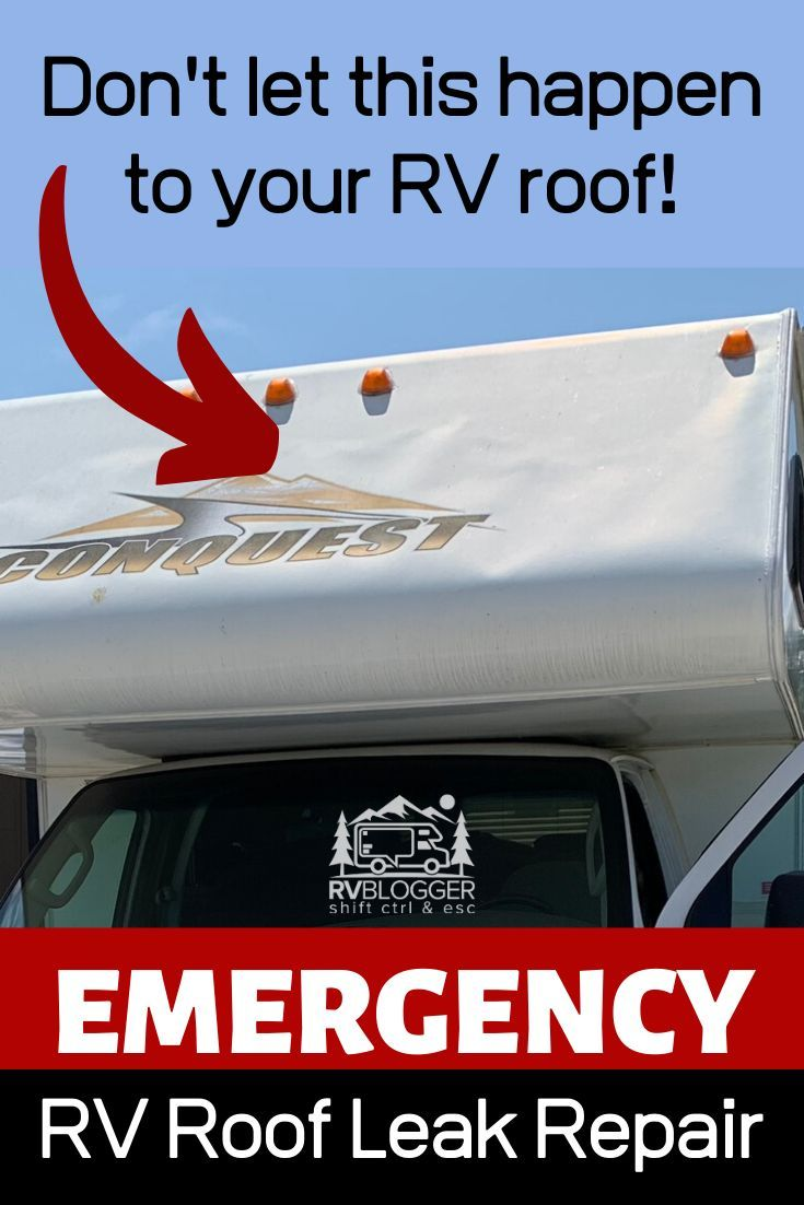 Quick And Easy Rv Roof Repair With Flex Seal Rv Roof Repair Rv Maintenance Roof Repair