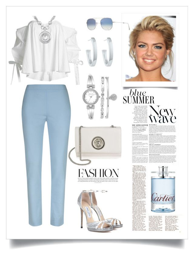 Meeting in a beautiful, clear sky by martika-1976 on Polyvore featuring moda, Caroline Constas, Jimmy Choo, Versus, Anne Klein, Susan Caplan Vintage, Garrett Leight, Cartier, Anja and Summer