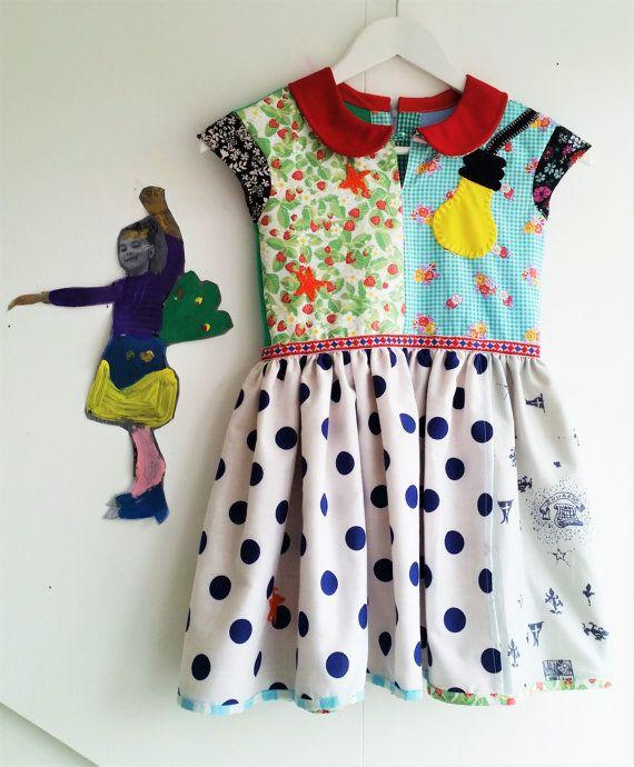 Peter Pan Collar, Peter Pan Dress, Girls Dress, Girls Summer Dress, Sweet Dress, Polka Dots Dress, Flowered Dress, Light Bulb, Stars Dress Mevrouw Hartman https://www.etsy.com/shop/MevrouwHartman  http://www.mevrouwhartman.nl/