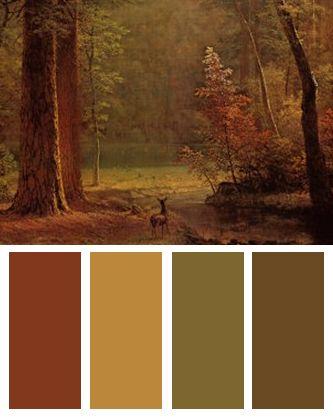 Forest Color Palette (Dogwood art print by Albert Bierstadt)