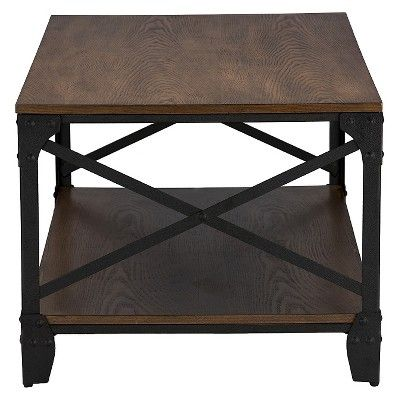 Greyson Vintage Industrial Coffee Cocktail Table and End Tables 3-Piece Occasional Table Set - Antique Bronze - Baxton Studio, Brown