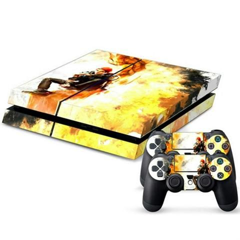 ModFreakz® Console/Controller Vinyl Skin Set – Red Hat Boy on Fire Infamous for PS4 Original Perfect gaming accessories for playstation gamers, gamer…