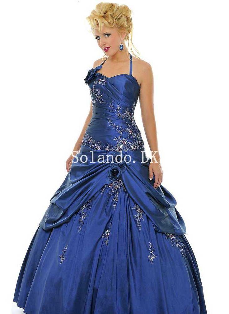 Classic Ball kjole Flowers Ruched Taffeta Gallakjoler