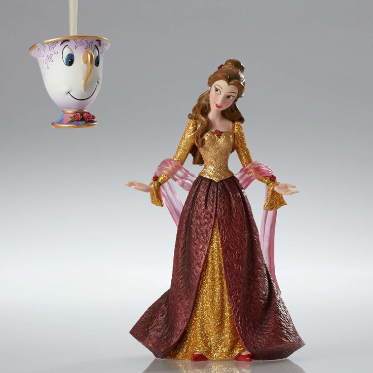 Beauty and the Beast - Christmas Belle and Chip Ornament - Walt Disney Showcase Collection - World-Wide-Art.com - #disney #disneyshowcase #figurines #beautyandthebeast #ornament #christmas