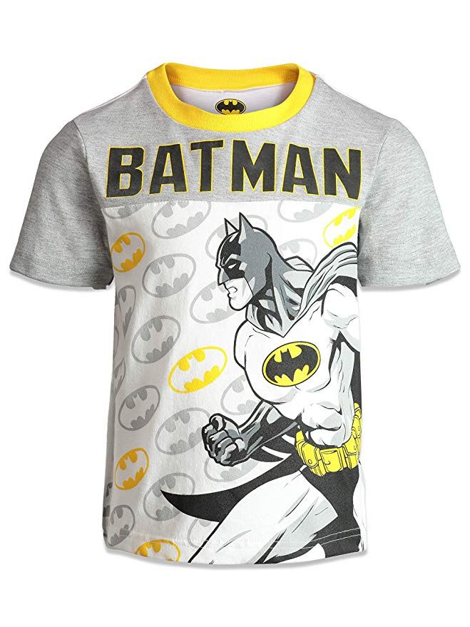 Amazon Com Warner Bros Batman Boys T Shirt Woven Shorts
