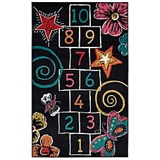 image of Mohawk Home Aurora Hopscotch Chalk 5-Foot x 8-Foot Area Rug in Black