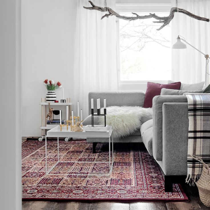 Our livingroom ❤️ The carpet is Ikea's Valby ruta