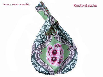 Knotentasche -- darf ja gern auch aus netterem Stoff sein. Aber die Anleitung sieht prima aus!