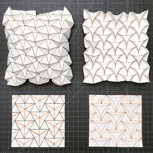 Ron Resch tessellation and curved version | Mike Tanis | Flickr
