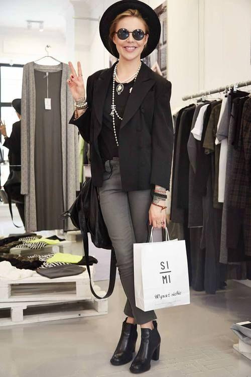 #simi #set #style #grunge #punk #fashion #plaid#beanie#model#girl#inspire#majasablewska