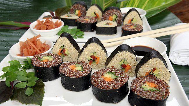Gwinganna Health Retreat Chef Hermann Schafellner's Quinoa Sushi