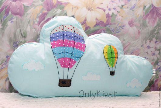Детская ручной работы. Ярмарка Мастеров - ручная работа. Купить подушка облако. Handmade. Подушка, облако, для детской комнаты, мальчику