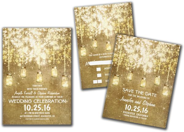 Wedding Cards and Gifts: Country Rustic Wedding Invitations