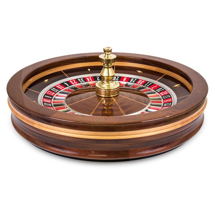 A roulette table wheel