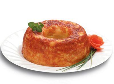Budino di scamorza e mais  budino salato cotto sul fornello, a bagnomaria senza acqua, nella cocotte Crafond