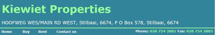 www.kiewietproperties.co.za - stilbaai properties Make sure to view our website. https://www.facebook.com/bestfiver/posts/1423497881196516