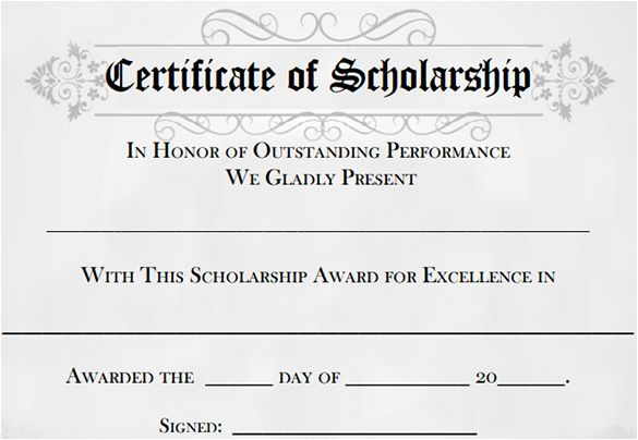 Scholarship Certificate Template SCHOLARSHIP CERTIFICATE TEMPLATES - fresh certificate of appreciation for donation wording