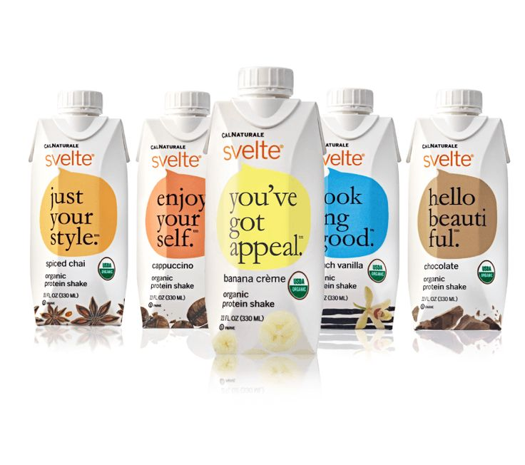 Svelte organic protein shakes are vegan and gluten free and made with only the highest quality organic ingredients. Try all of our five delicious flavors!