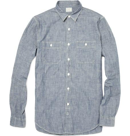 good: J Crew Washed, Casual Shirts, Chambray Shirts, Shirts Full Sleeve, Mr Porter, Washed Chambray, About Men SのFashion