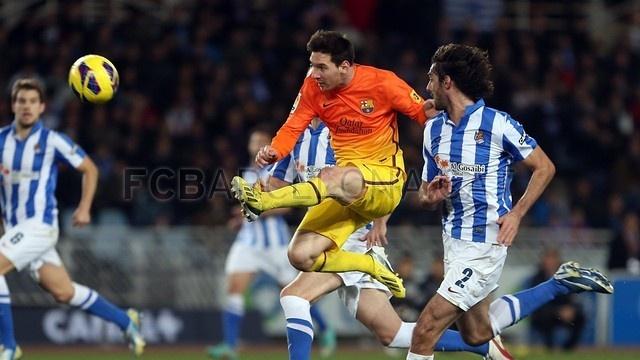 Messi, FC Barcelona | Real Sociedad 3-2 FC Barcelona. [2013-01-19]