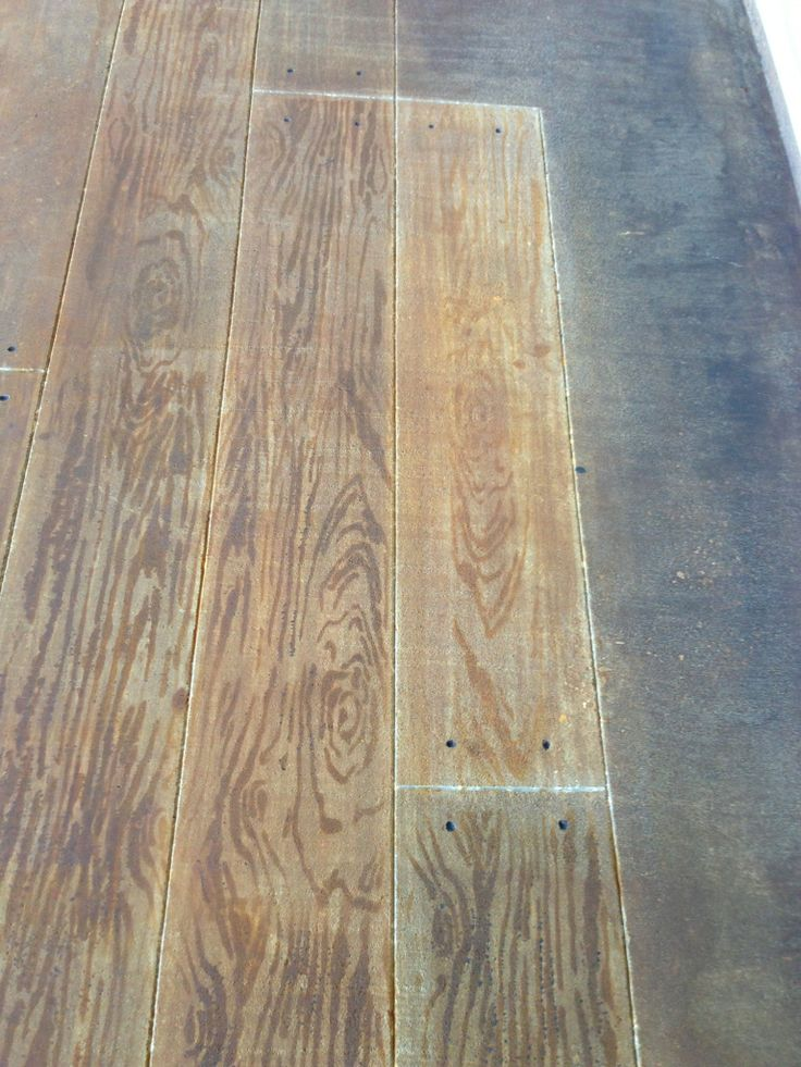 Faux Wood Stamped Concrete Floors : Lafayette la concrete faux wood stained