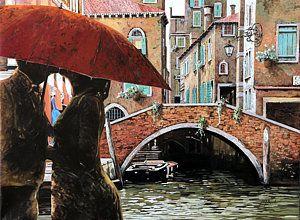 Painting - Baci Tra Le Calli by Guido Borelli
