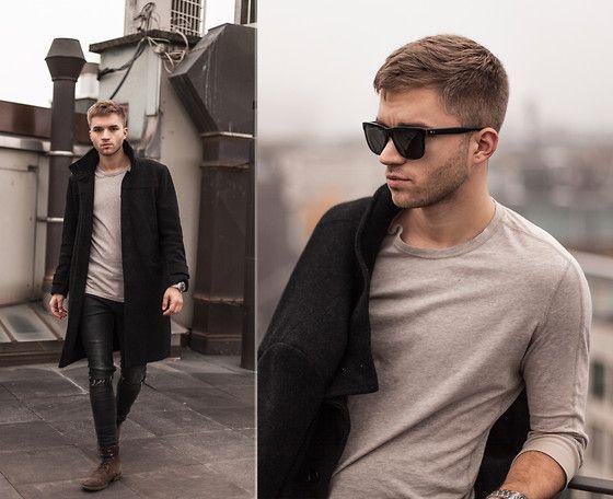 H&M Coat, Burberry Sweater, Topman Jean