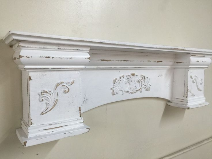 """French Country Mantle Shelf,Primitive Mantel,Large Mantle shelf Fancy Mantle,48"""" #NaivePrimitive"""