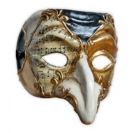 A mask that a typical Zanni character would wear