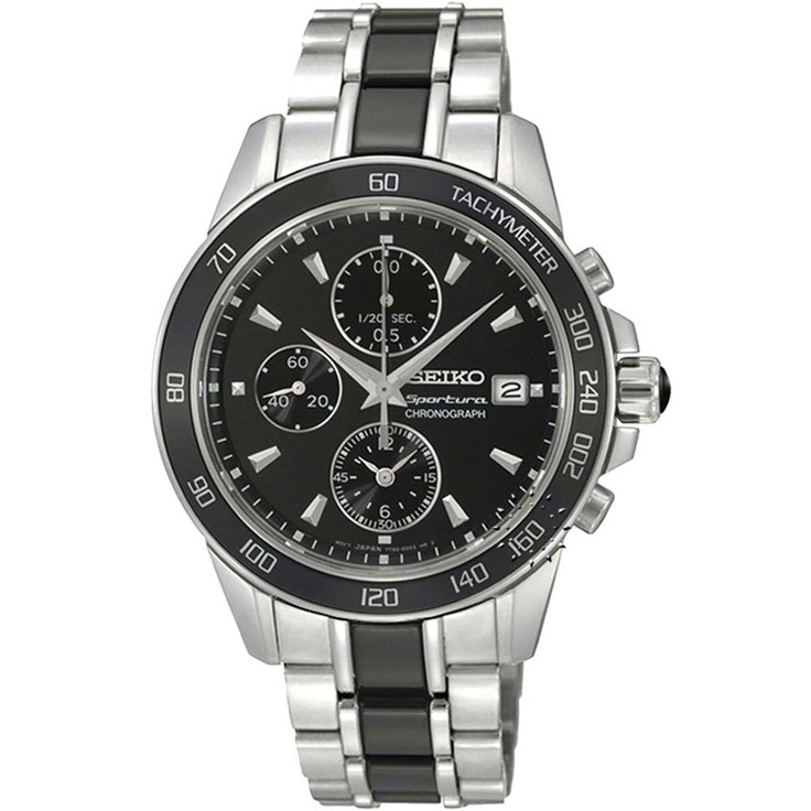 SEIKO SPORTURA Ladies Chronograph Stainless Steel, 498€ http://www.oroloi.gr/product_info.php?products_id=30388