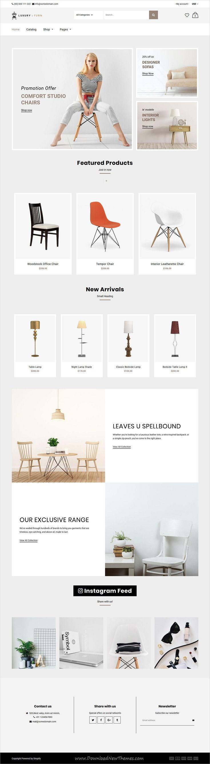 Quick Shop is clean, stlish and modern design responsive #Shopify theme for stunning #furniture store #eCommerce website with 12+ niche homepage layouts download now..