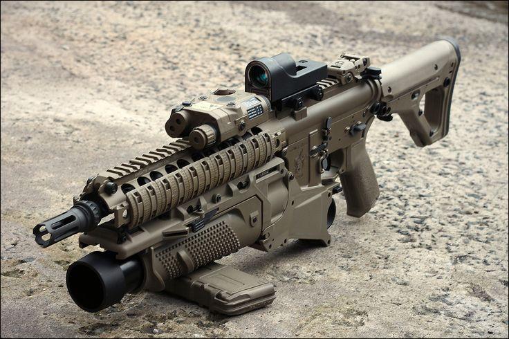 Dark Earth SBR with Grenade Launcher | via b0ney4rd
