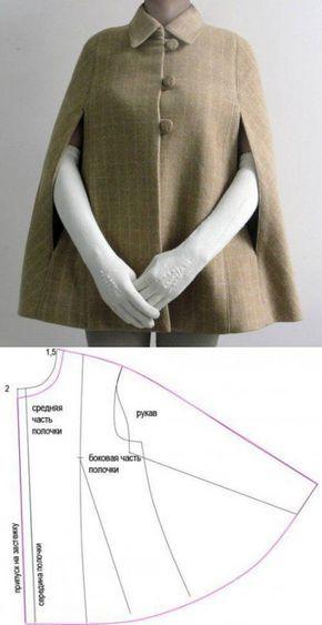 Пальто накидка: построение выкройки для шитья | Hand made_Рукоделие. Сделай сам! | Постила