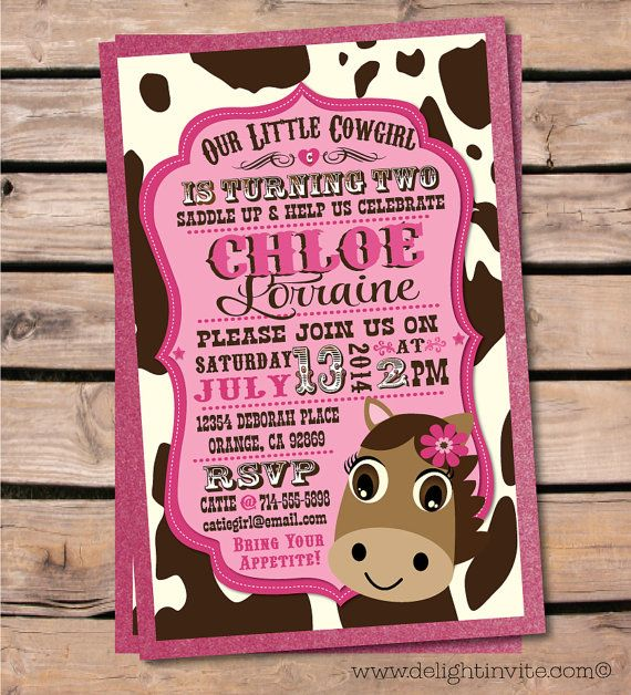 Best Cowboy And Cowgirl Invitations Images On Pinterest - Horseback riding birthday invitation