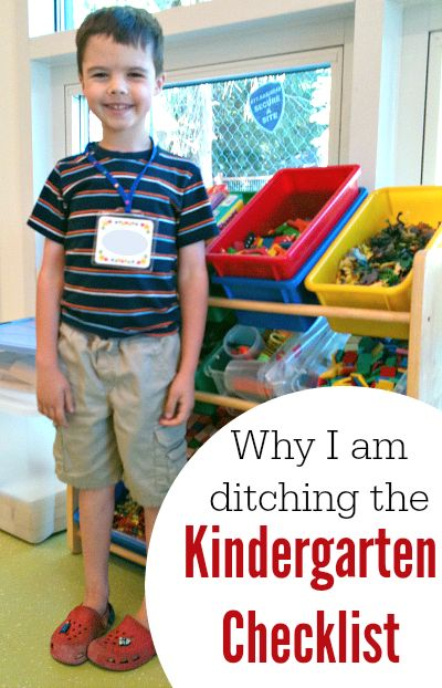 Why I am NOT using a kindergarten checklist to prepare my daughter for kindergarten.