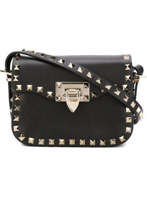 VALENTINO  Rockstud  shoulder bag.  valentino  bags  shoulder bags  leather    5e0be5e1186