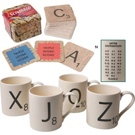 scrabble mugs! All then highest letters .. possibly DIY? ps thanks @Sierra Hebert Russell