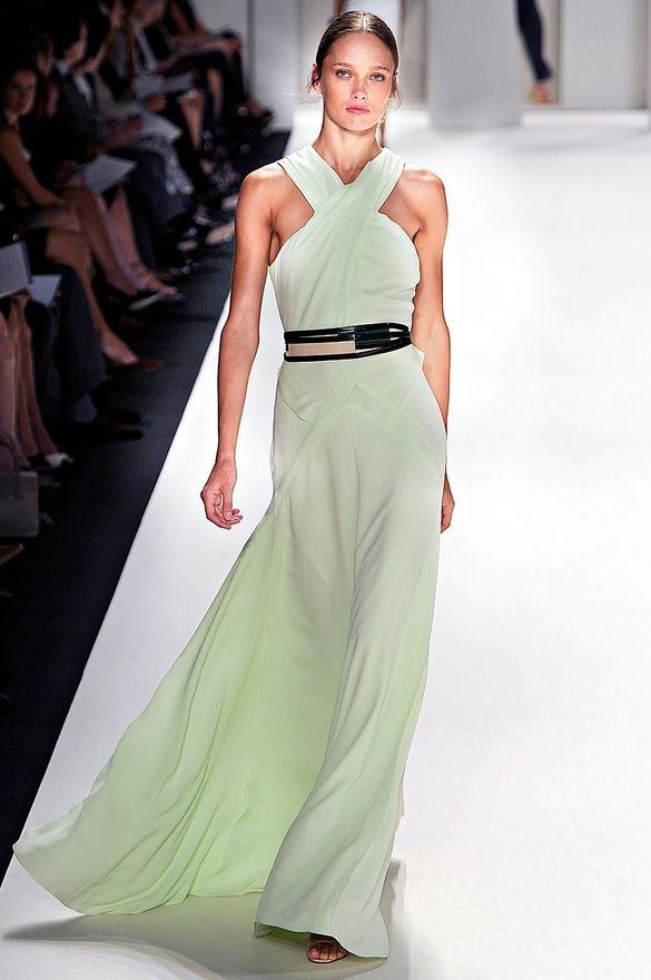 Carolina Herrera F/W 2012: Mint Green, Breakfast, Colors, Carolina Herrera, Bridesmaid, Carolinaherrera, Stunning Dresses, Belts, Halter Maxi Dresses