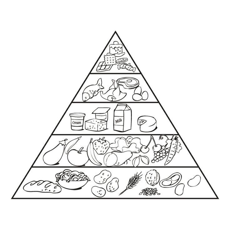 Детские рисунки пирамида питания