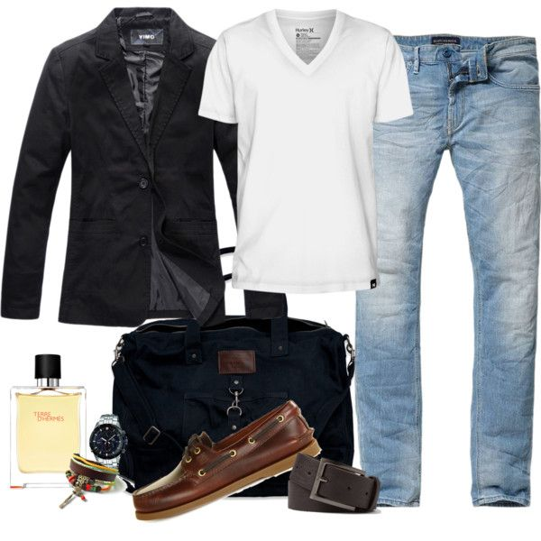 """Jeans & Blazer for men"" by marta-cercols on Polyvore"