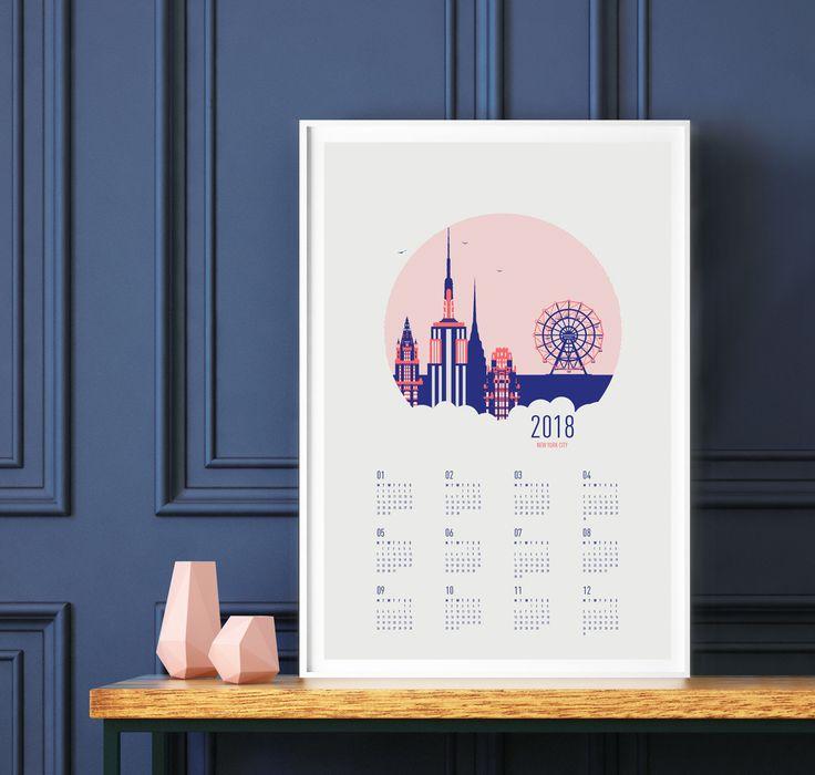2018 Calendar New York City - Screenprint - hand-pulled