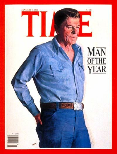 1981: TIME names U.S. President Ronald Wilson Reagan its Man of the Year.