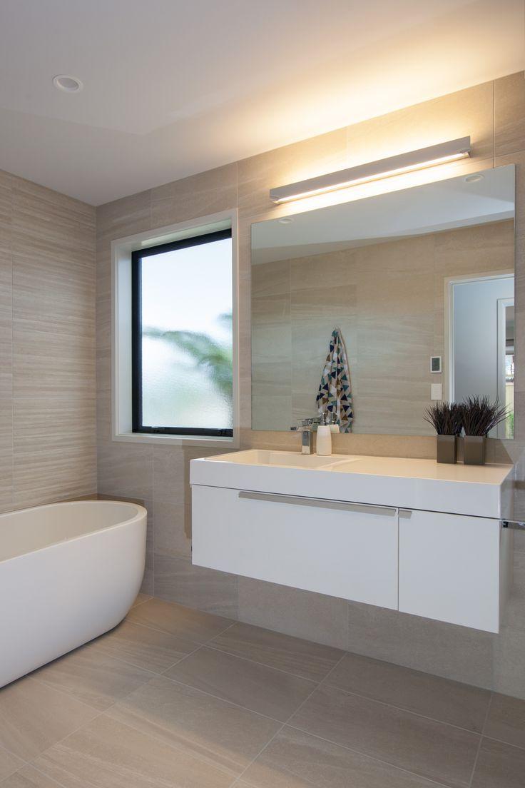 The sleek bathroom vanity