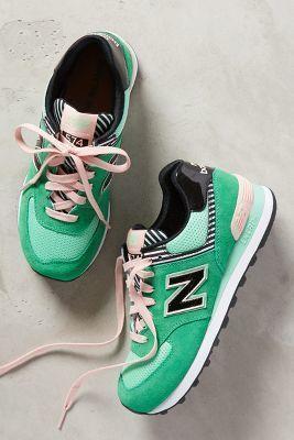 New Balance WL 574 Sneakers Blue Motif #Sneakers #anthrofave