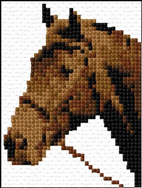 Horse Face Cross Stitch Pattern