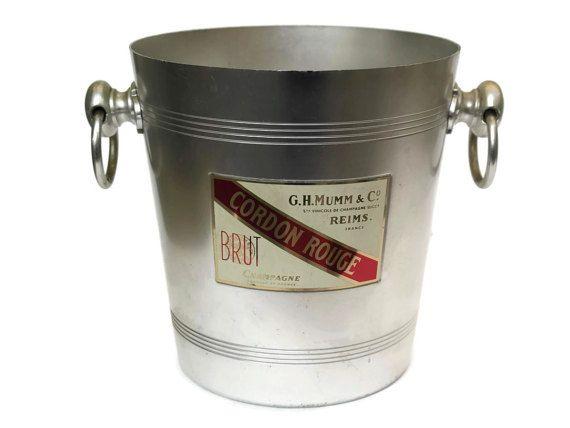 Mumm Champagne Bucket. Vintage French by LeBonheurDuJour on Etsy